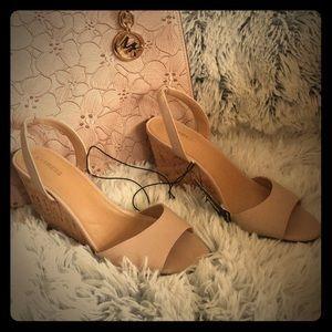 NWT Cork Wedge Sandals